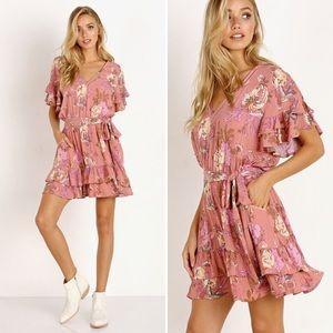 Spell & The Gypsy Rosa Playdress Blush XS NWT